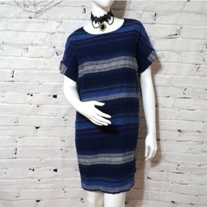 Old Navy Striped Linen Dress size M